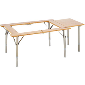CAMPZ Utility Bamboo Table 51x78x40, brown